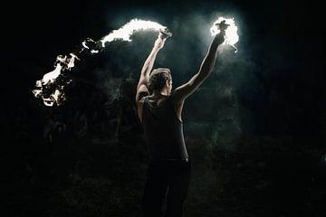 Feuershow van Sebastian Schimmel