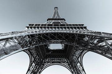 La Tour Eiffel à Paris / noir et blanc sur Werner Dieterich