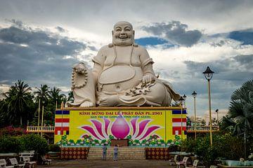 Le Bouddha rieur à My Tho, Vietnam sur Nico  Calandra