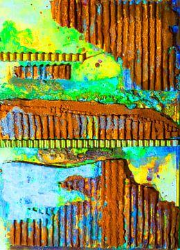Gekleurde roestvrijstalen golfkarton van Klaus Heidecker
