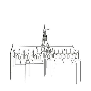 Haarlemse Grote of St Bavokerk van Fela de Wit