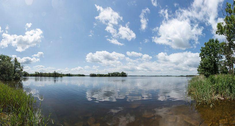 De Wijde Blik, panoramafoto bij Kortenhoef, Wijdemeren van Martin Stevens