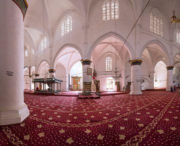 Innenraum der Moschee innerhalb der Heilig-Sophia-Kathedrale, Nikosia Nord, Zypern, Türkisch-Zypern von
