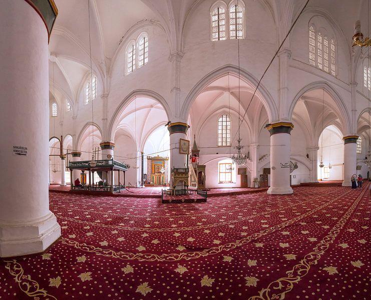 Interieur van de moskee in de Sint Sophia Cathedral, Nicosia north, Turkish-Cyprus, Cyprus van Rene van der Meer