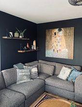 Kundenfoto: Der Kuss - Gustav Klimt, als akustikbild