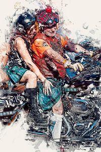 Schotse Harley Davidson motorrijders