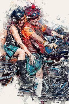 Scottish Harley Davidson Fahrer von Anouschka Hendriks