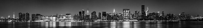New York skyline van Atelier Liesjes