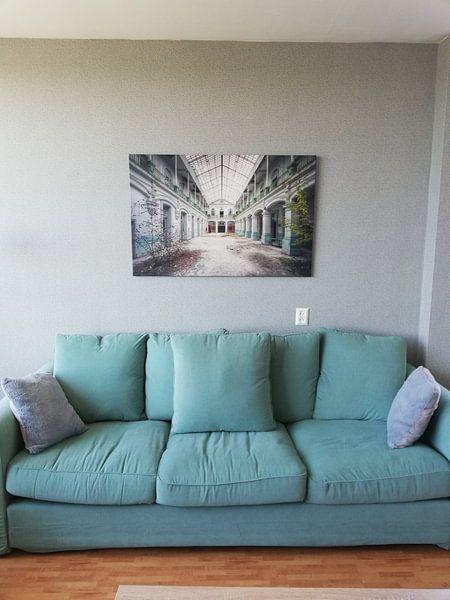 Klantfoto: Urbex - School van Angelique Brunas, op canvas