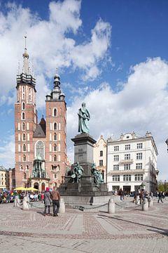 Marienkirche, Hauptmarkt, Altstadt, Krakau, Polen