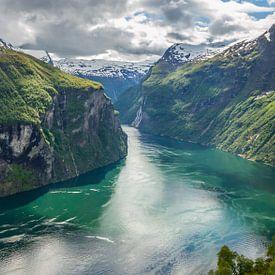 Geirangerfjord, Noorwegen van Dirk Jan Kralt