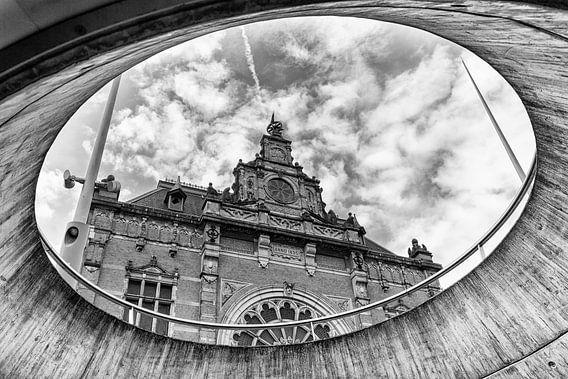 Station Groningen vanuit het stadsbalkon