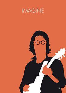 No013 MY John lennon Minimal Music poster