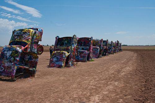 Cadillac Ranch, Amarillo TX USA van Gerrie Tollenaar