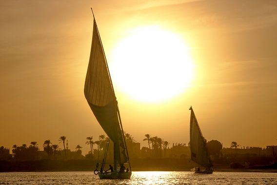 Feluccas op de Nijl
