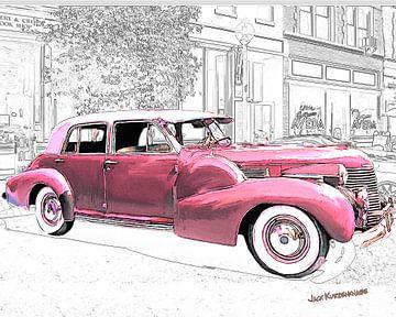 1940 Pink Cadillac sur Natasja Tollenaar