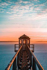 Sonnenaufgang bei Oostmahorn, Friesland von Bastiaan Veenstra
