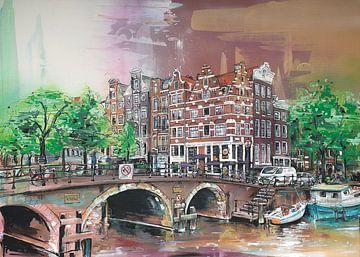 Amsterdam (les Pays bas) peinture sur Jos Hoppenbrouwers