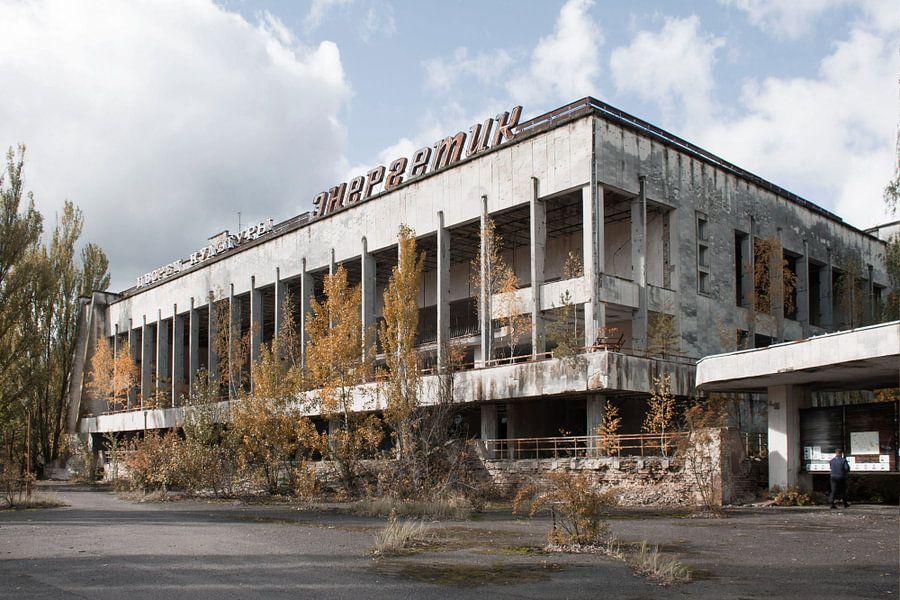 Het centrale plein van Pripyat  van Tim Vlielander