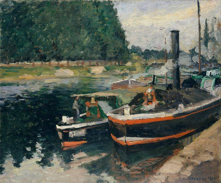 Heuvels rond de Baai van Moulin Huet, Guernsey, Auguste Renoir van Meesterlijcke Meesters