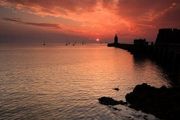 Castle Cornet bij zonsopkomst