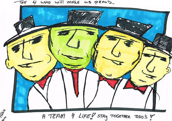4 Bro's van Toekie -Art