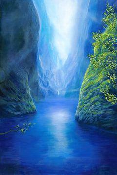 Blaues Tal von Silvian Sternhagel