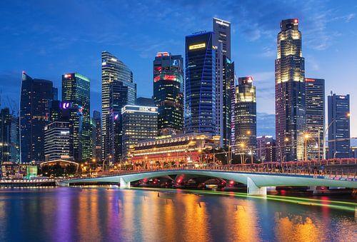 Skyline of Singapore sur