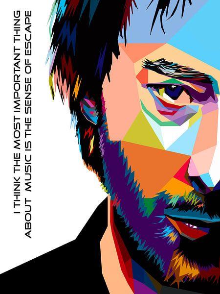Pop Art Thom Yorke - Radiohead van Jan Willem van Doesburg