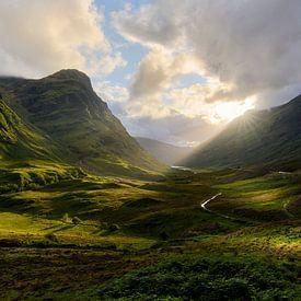 Zonsondergang in Glencoe van Jimmy Sorber