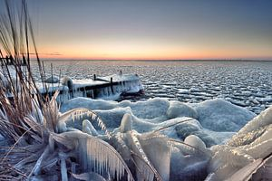 Steiger onder winterse omstandigheden van