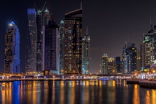 Dubai bij nacht 9 van