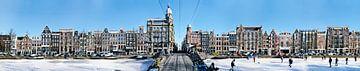 Amsterdam Keizersgracht Panorama van
