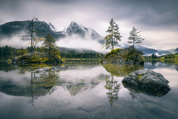 Regenachtige ochtend bij Hintersee (Beieren)