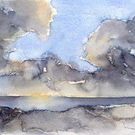 Wolken über dem Meer 3 von Montepuro