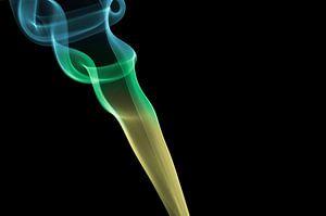 Smoke Art - Rookpluim met kleurverloop