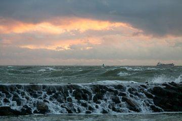 Herfststorm aan zee van MSP Canvas