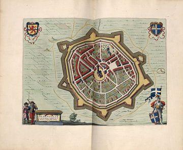 Oldenzaal, Stadsplattegrond Joan Blaeu 1652 van Atelier Liesjes