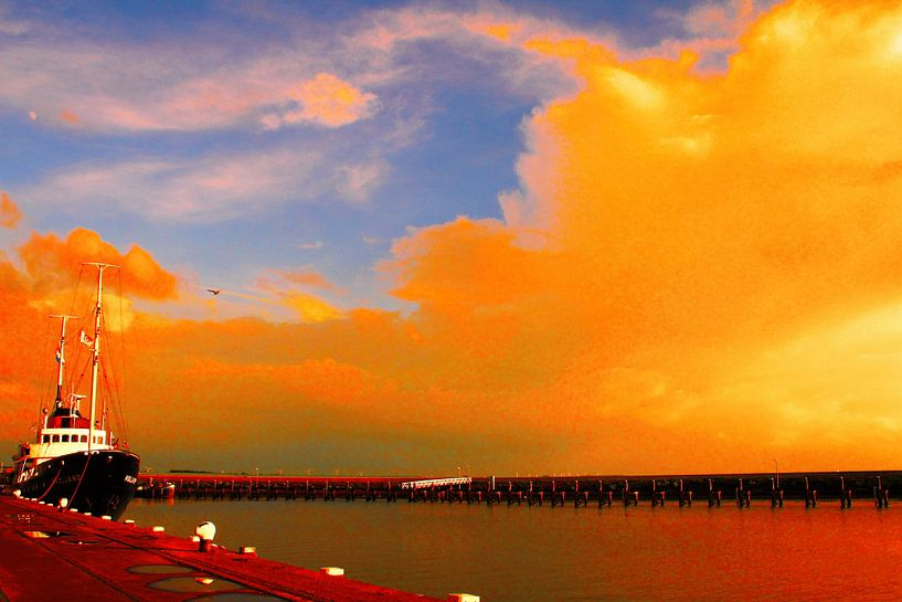 Oranje lucht van Jetty Boterhoek