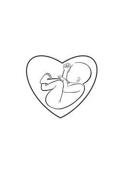 Ungeborenes Baby von MySilhouette