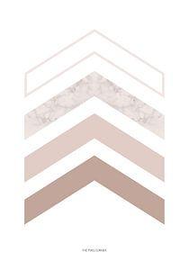 Pink arrows van The Pixel Corner