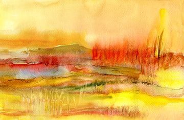 Morgenlicht in Gelb von Claudia Gründler