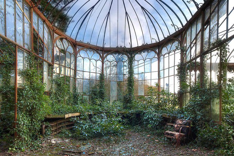 Verlassener Wintergarten von Truus Nijland