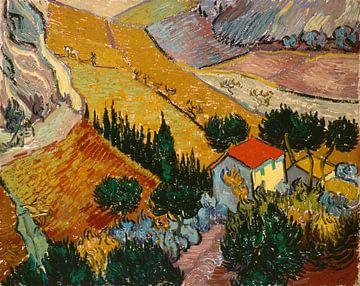 Landscape with House and Ploughman, Vincent van Gogh sur