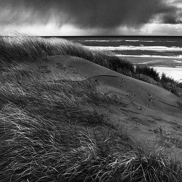 Zware regen trekt over Noordzee van Martijn van Huffelen