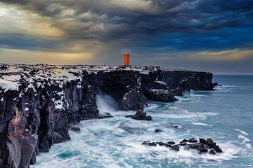 Leuchtturm in orange von Tilo Grellmann | Photography