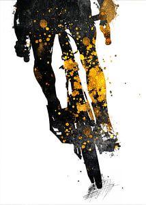 Radfahren Fahrrad Sport Kunst Gold und schwarz #cycling #bike