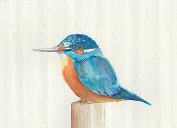 Aquarell-Eisvogel von Yvette Stevens