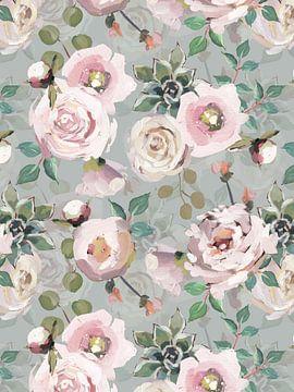 Monet Rose Vijver van Uta Naumann