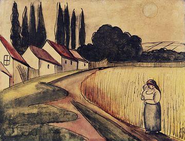 Boerin met kind, Anita Rée, ca 1922 van Atelier Liesjes